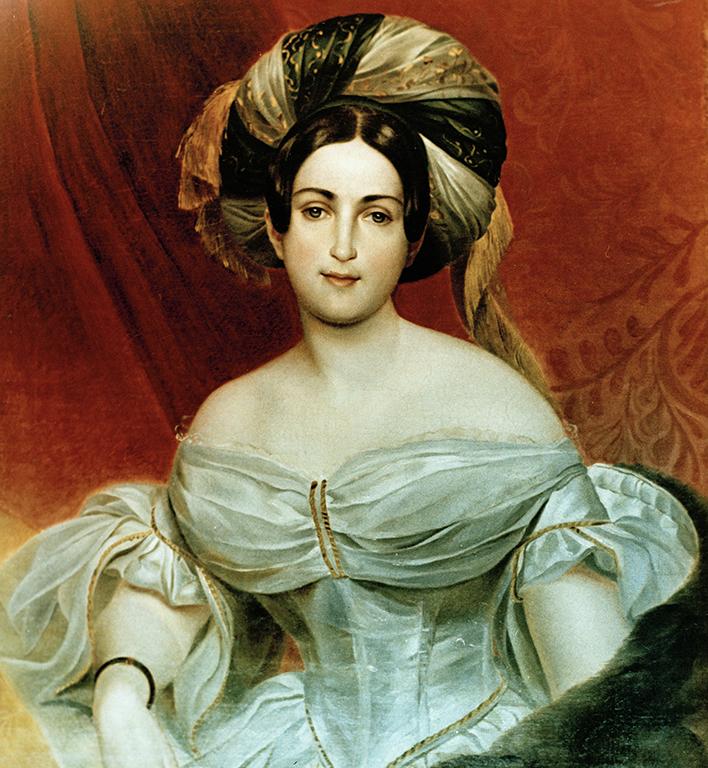 Aurora Demidova 1830-luvun lopulla Karl Brüllovin öljymaalauksessa.